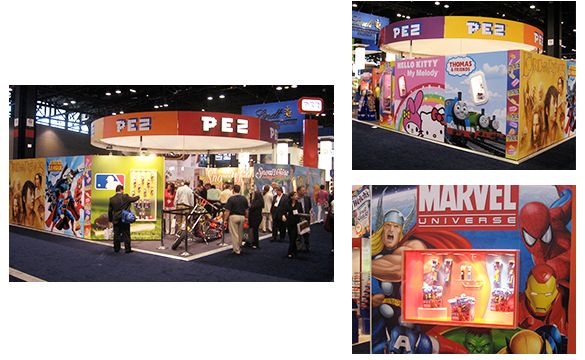 For several years Graphish has designed Pez's trade show booth at the Sweets and Snacks Expo in Chicago. #graphish #graphic #design #pez #candy #event #expo #trade #show #booth #signage