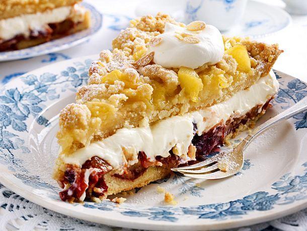 Prassel Bauerntorte Mit Apfel Und Pflaumenkompott Rezept Lecker Rezept In 2020 Kuchen Kuchen Rezepte Kuchen Und Torten Rezepte