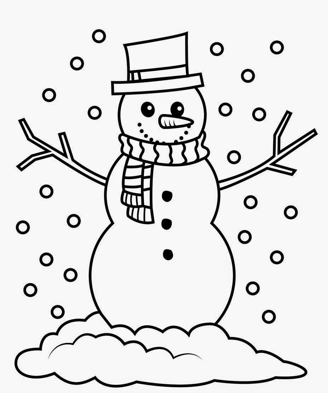 Snowman black and white navishta sketch snowman christmas