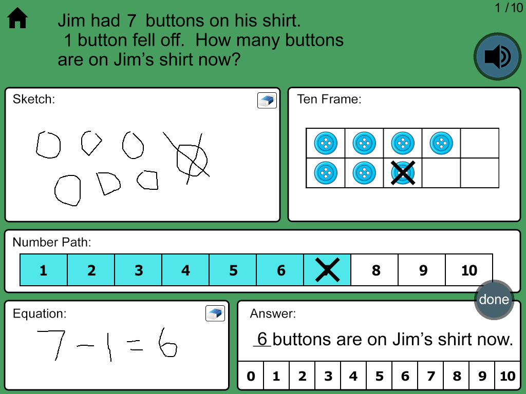 Ipad App Common Core Aligned Word Problems Students