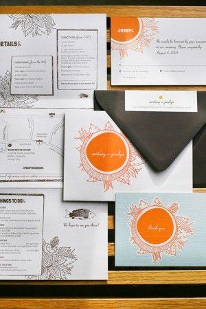 Beach-Inspired Wedding Invitations by Petit Bureau