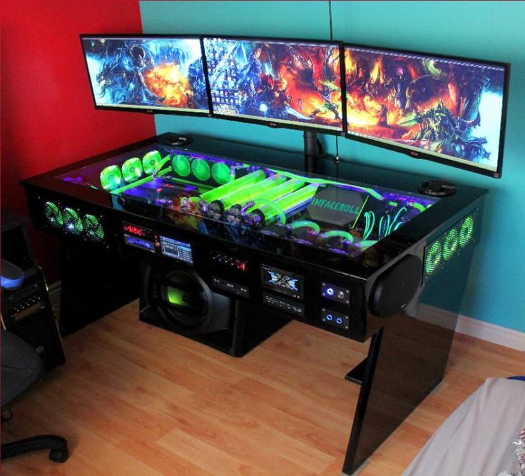 My Computer Rig Tower Pc Gaming Setup Liquid Cooled Wow World Of Warcraft Wall Paper