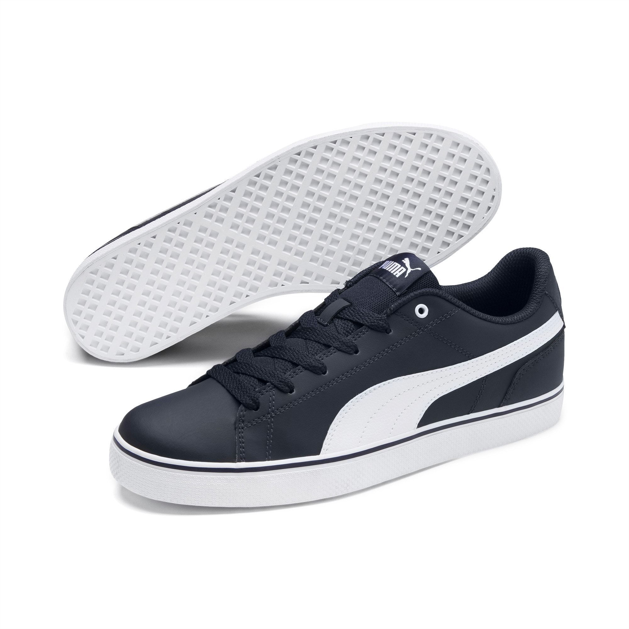 Women S Puma Court Point Vulc V2 Trainers Peacoat White Size 10 5 Shoes Fusing A Low Rise Tennis Inspired Silhouette With Clean Vulc In 2020 Sneaker Schuhe Puma