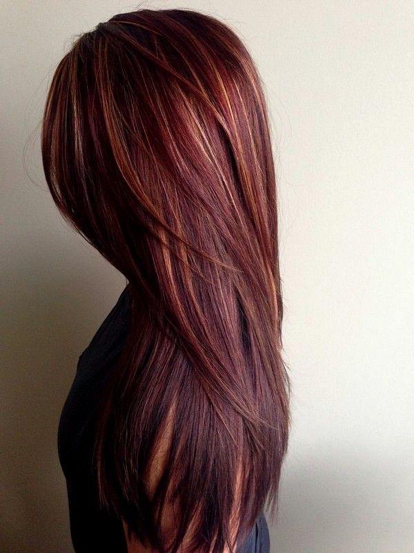 Caramel Highlights On Black Hair 2015 Straight Hairstyles Hair Color Mahogany Hair Color Auburn Fall Hair Color For Brunettes