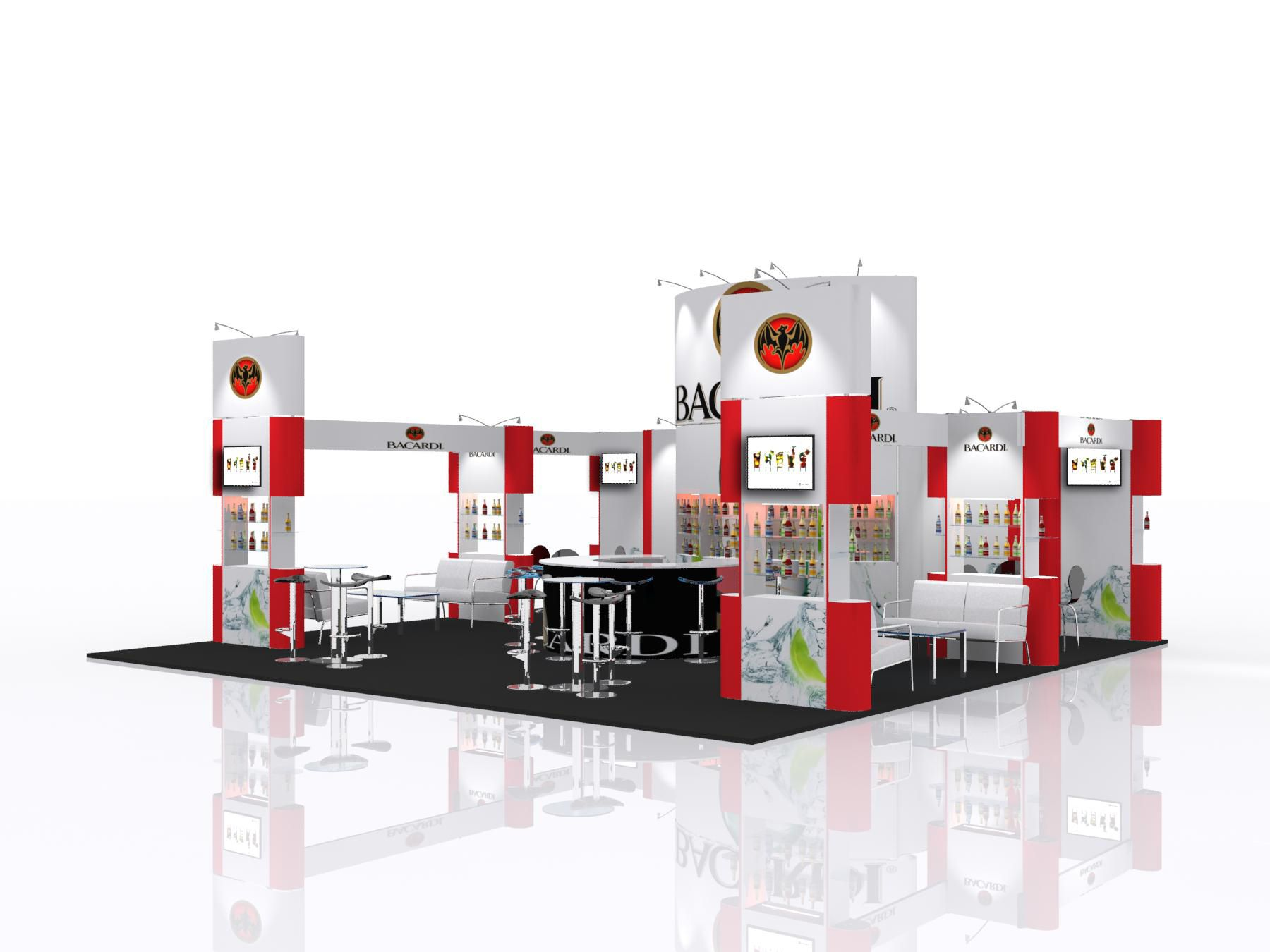Exhibition Stand Information : Modular exhibition stand design for bacardi. for more information on