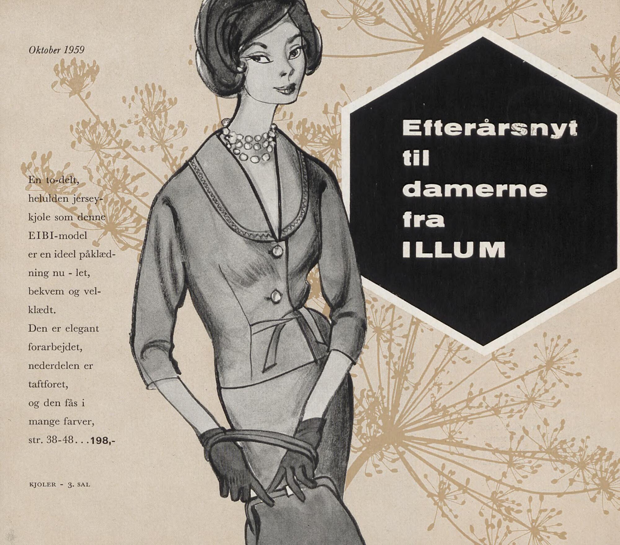 Efterårsnyt til damerne fra Illum, Denmark 1959