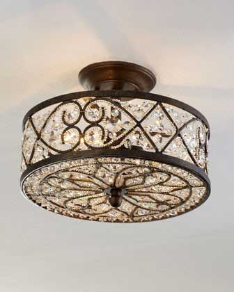 12 Beautiful Flush Mount Ceiling Lights Love Horchow S Light With Crystals I Guess At 560 It A Bit Over The Top Though