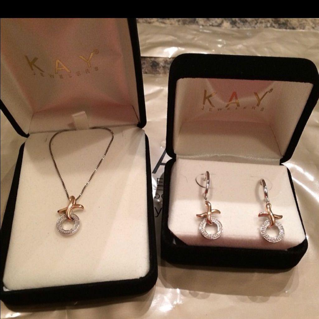 Kay Jewelers Xo Necklace And Earring Set Xo Necklace Earring Set Kay Jewelers