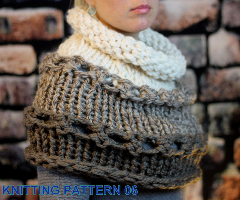 Knitting Pattern Outlander Cowl : Knitting pattern - Beginner / Hand Knit Outlander and Katniss Inspired Cowl, ...