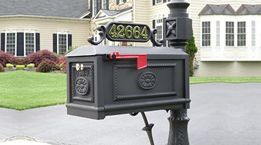 Better Box Mailboxes offering Decorative Cast Aluminum