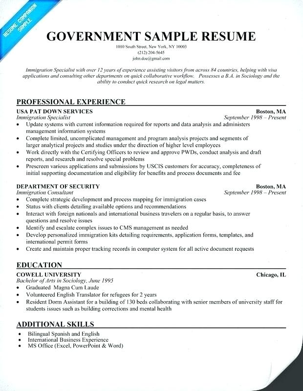 Resume Templates Government Government Resume Resumetemplates Templates Federal Resume Cover Letter For Resume Job Resume Template