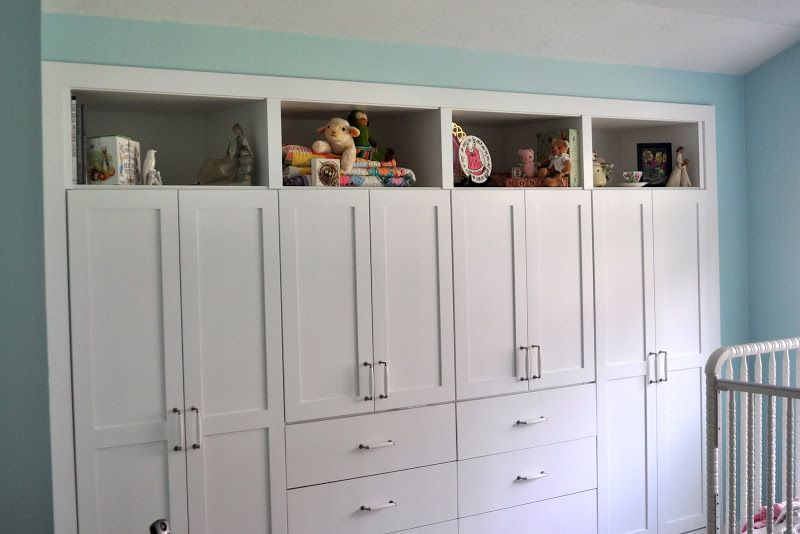 Contenporary Built In Closet Drawer Ideas With Pure White Storage Cabinet  Two Doors And Drawer Combine