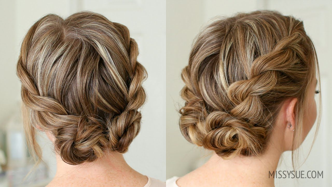 Double Twist Low Buns Missy Sue Youtube Low Bun Hairstyles Short Hair Bun Short Hair Styles