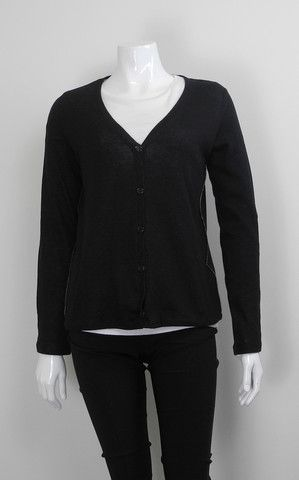 MAJESTIC EXPOSED SIDE SEAM CARDIGAN $215.00 AUD ext 70% cotton + 30% cashmere + 100% cotton int | button through | long sleeve