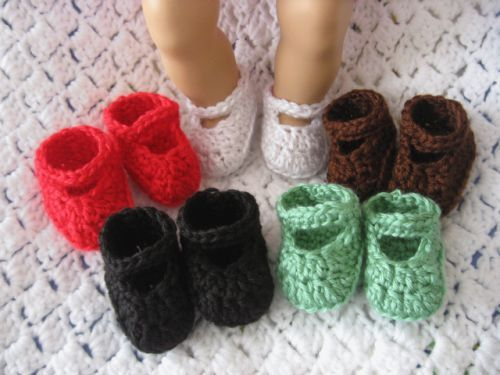 Crochet Doll Shoes for Bitty Baby and American Girl Doll - 5 for price of 1 #bedfalls62