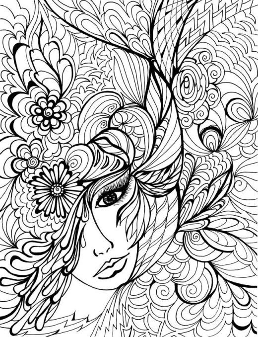 Difficult Animals Coloring Pages For Adults | Line Art | Pinterest ...