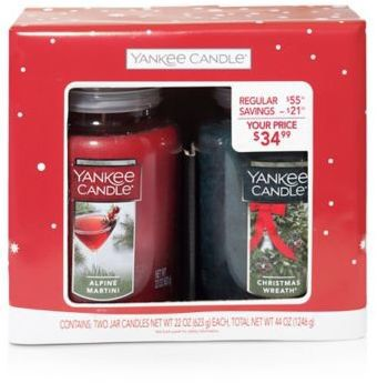 yankee candle 2 piece large classic jar candle gift set ad http