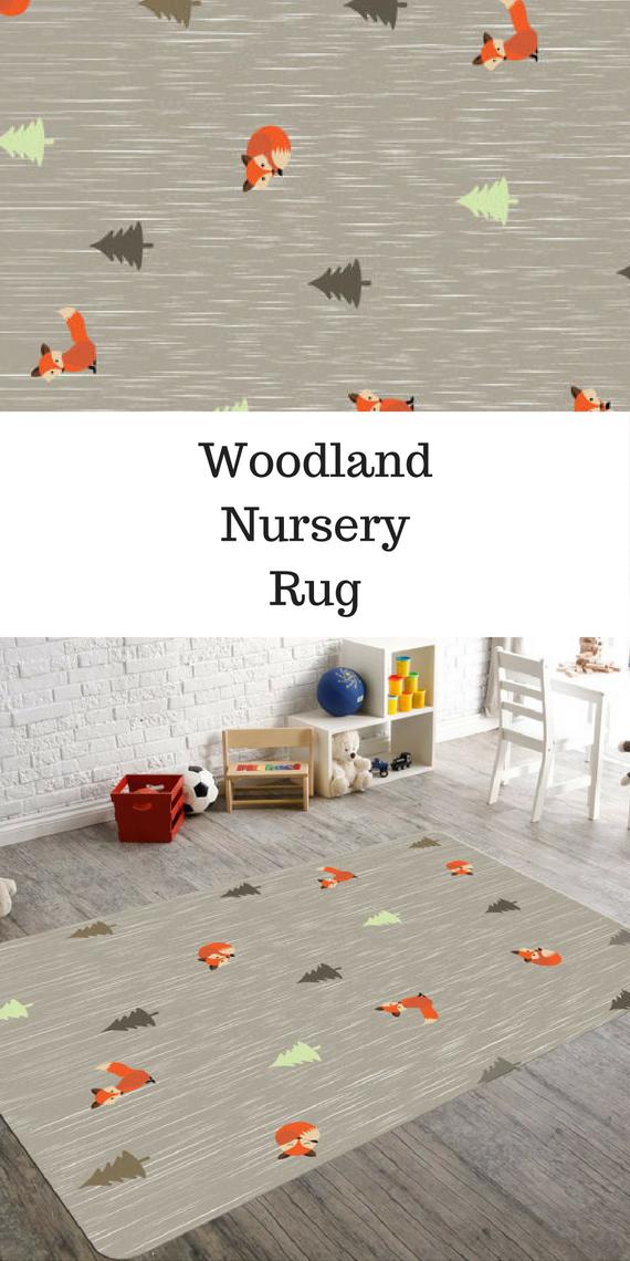 Woodland Nursery Rug Childrens Rugs Decor