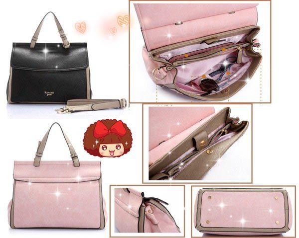 DS5015 - Rp 245.000 | SISA WARNA : BLACK | PU LEATHER L35 H25 W17