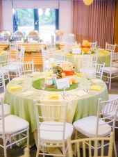 Photo of Guest table from a Winnie the Pooh Garden Birthday Party on Kara's Party Ideas |…