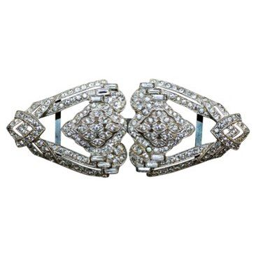 Check out this item at One Kings Lane! Deco Rhinestone Belt Buckle
