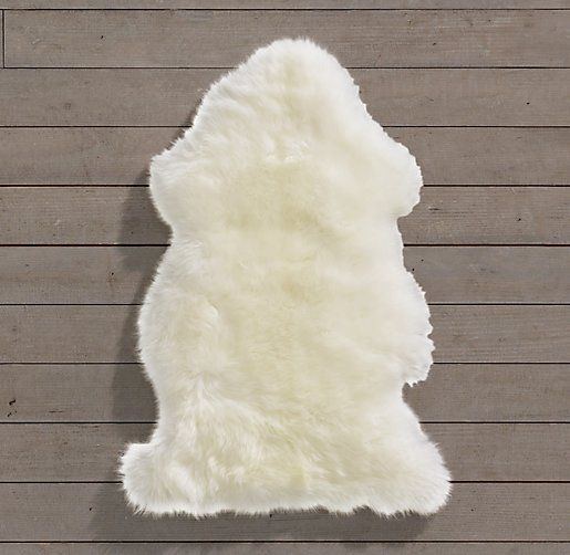 Rh Baby Child S Natural Sheepskin Pelt A Midcentury Clic Our Rug Gets Its