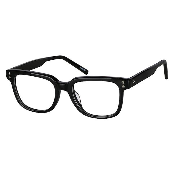 1c1222bb8c6fd Zenni Boys Square Prescription Eyeglasses Black Plastic 4433121 ...