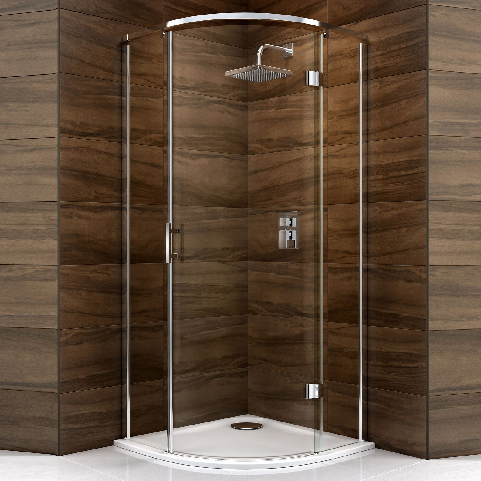 Cooke & Lewis Cascata Quadrant Shower Enclosure, Tray & Waste with ...