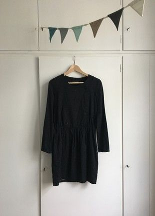 Sessun | Kleid | Mini | Dunkelblau mit Punkten | 100 % ...