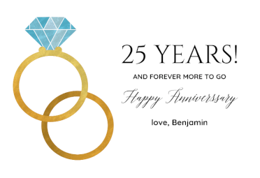Big Ring Happy Anniversary Card Free Free Printable