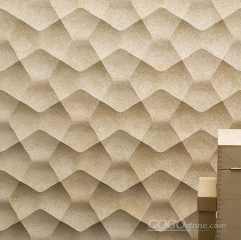 Cheap 3d Cnc Stone Wall Covering Tile Panels
