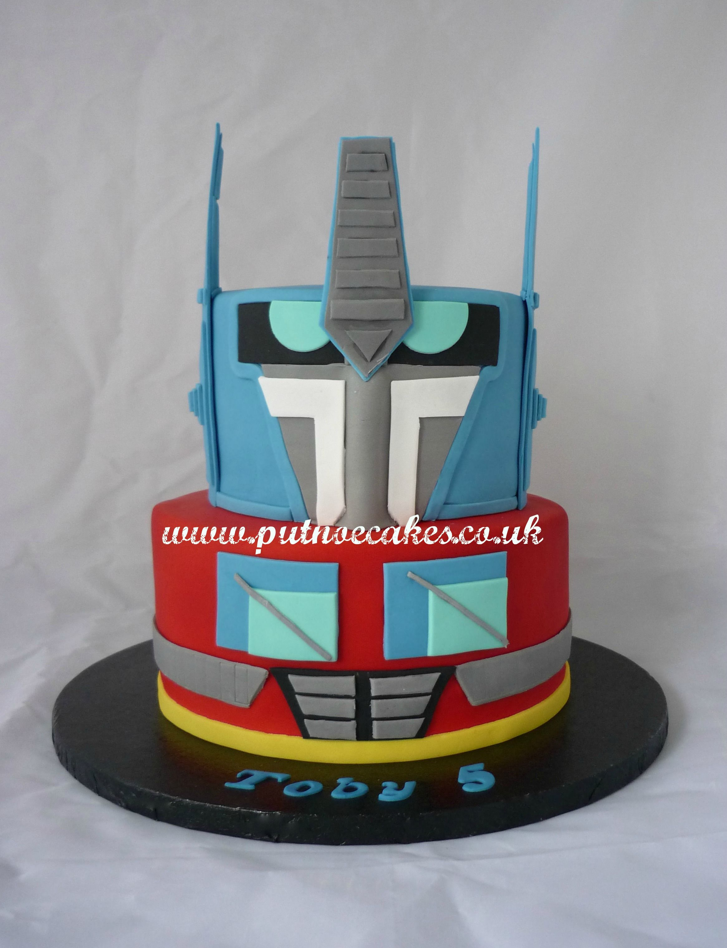 Optimus Prime Two Tier Transformers Cake Transformers Cake