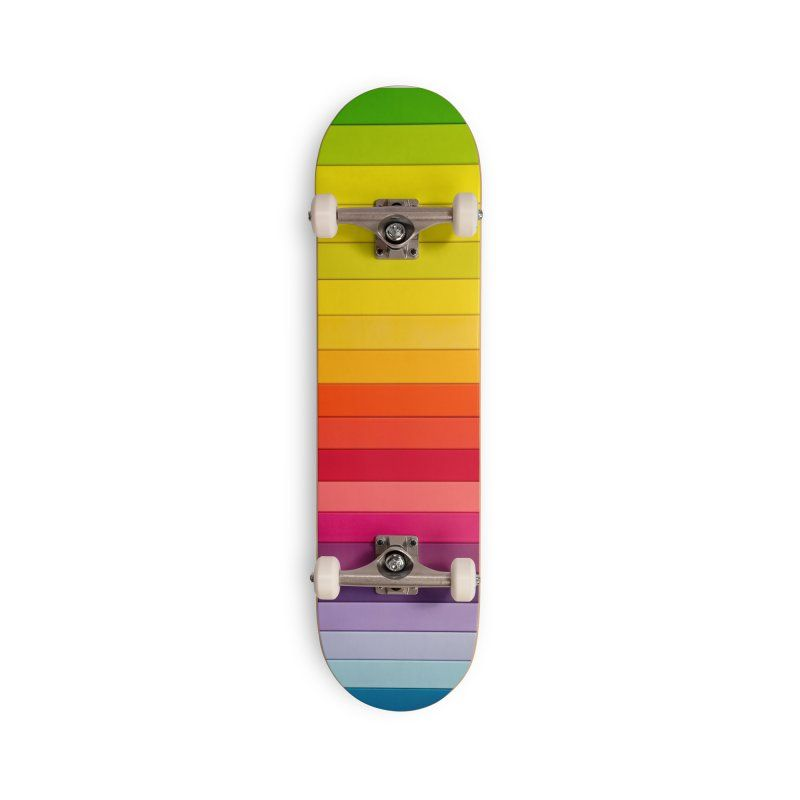 Rainbow Skateboard Skateboard Cool Skateboards Skateboard Deck Art
