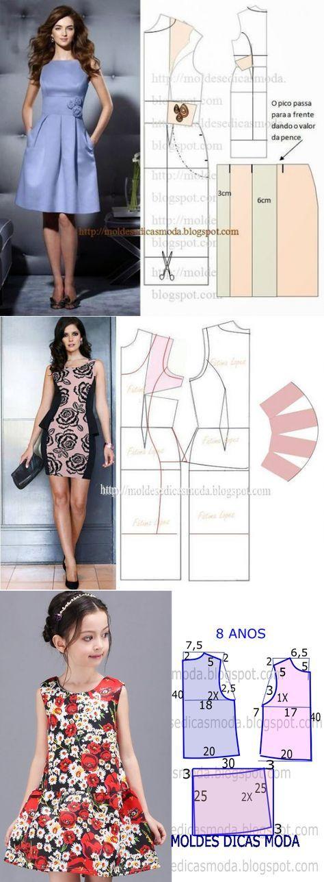 Los Patrones Simples Y Elegante | Coser | Pinterest | Sewing ...