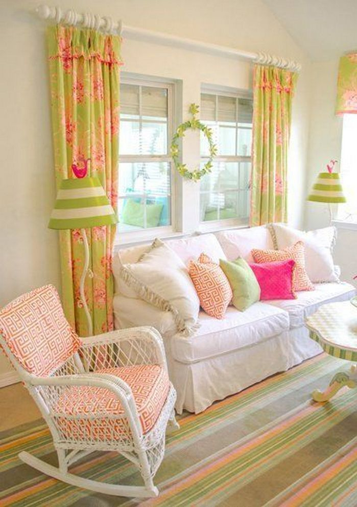 50+ Spring Color Home Decor Living Rooms_5