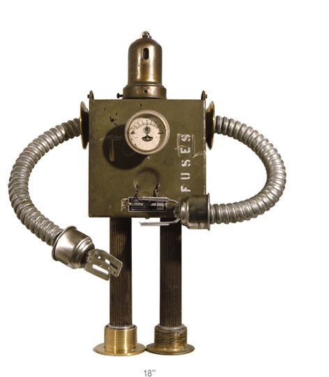 robot 0121 Les robots recyclés de Gordon Bennett  art