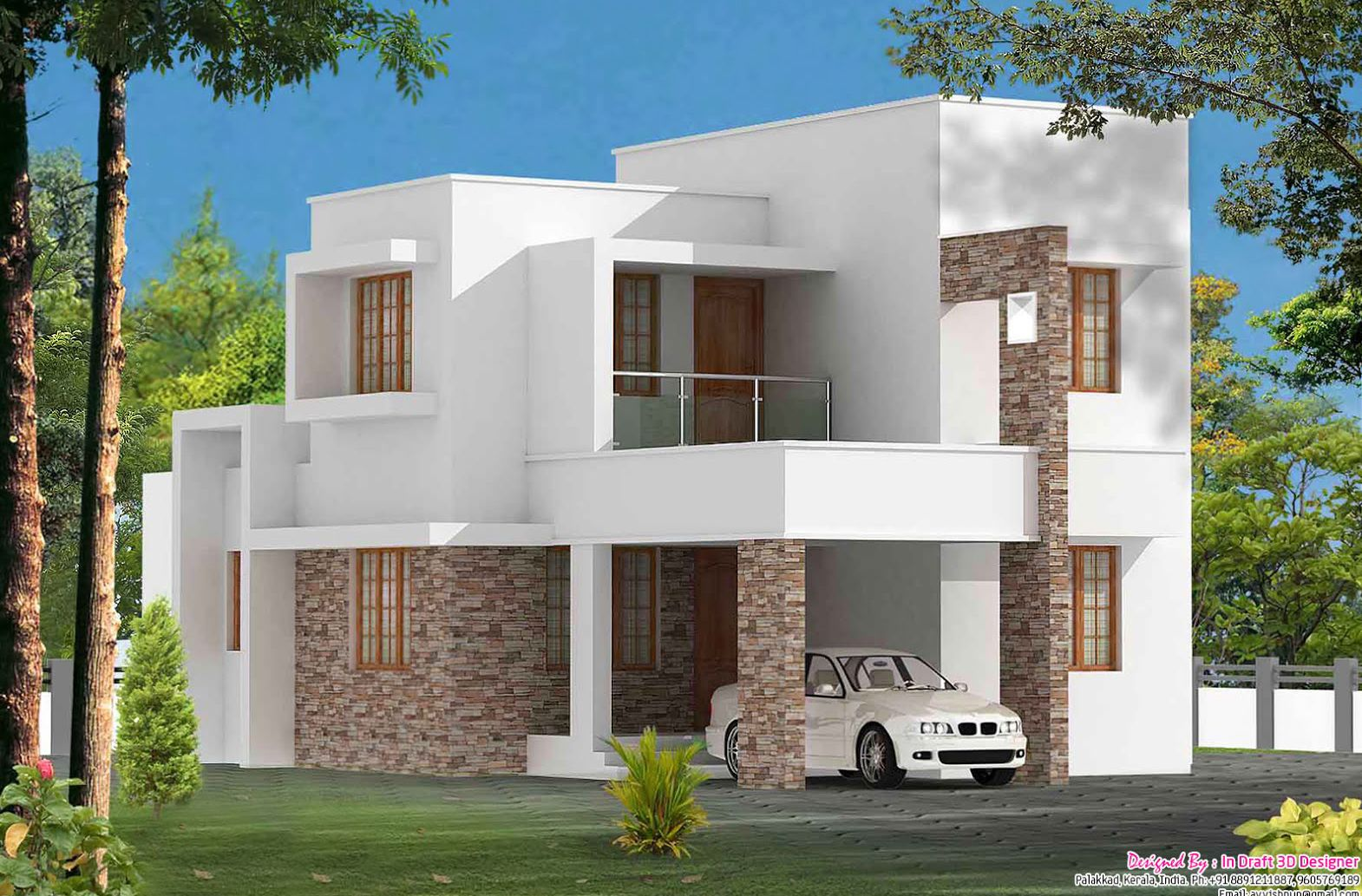 Contemporary villa nice homes pinterest villa design for Modern house designs and floor plans in india