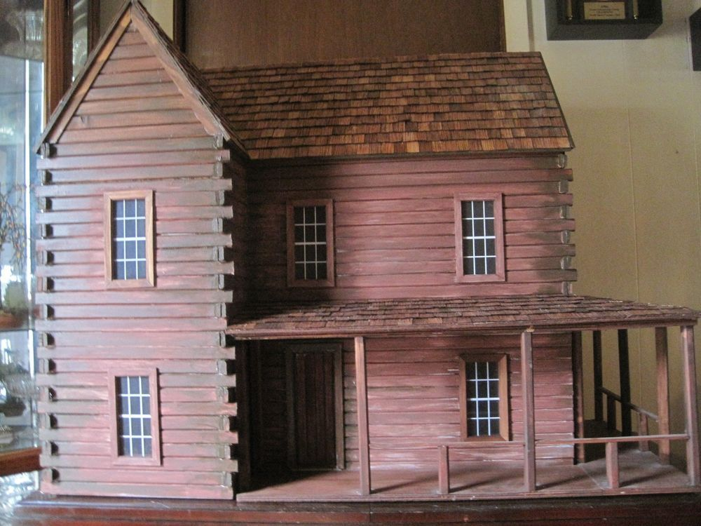 Ponderosa Log Cabin 1 12 Scale Dollhouse Finished Exterior Unfinished Interior Ebay Doll House Plans Miniature House Mini Doll House