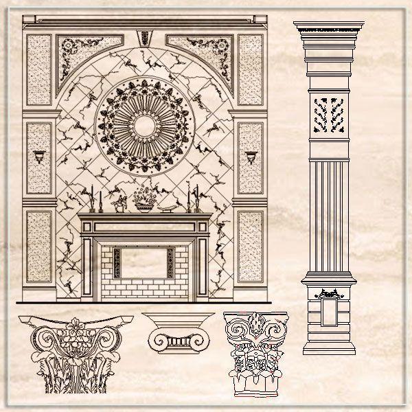 Luxury design elements architecture ornamental parts for Architectural design elements