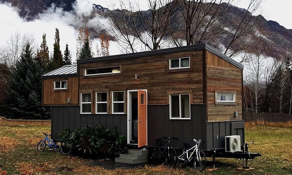 Alpine tiny homes brown bear takes the whole family off