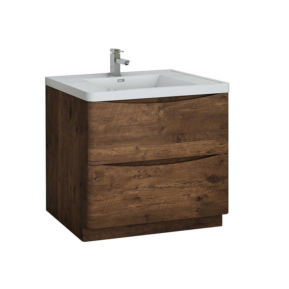 Fresca Tuscany 36 Rosewood Free Standing Modern Bathroom Cabinet