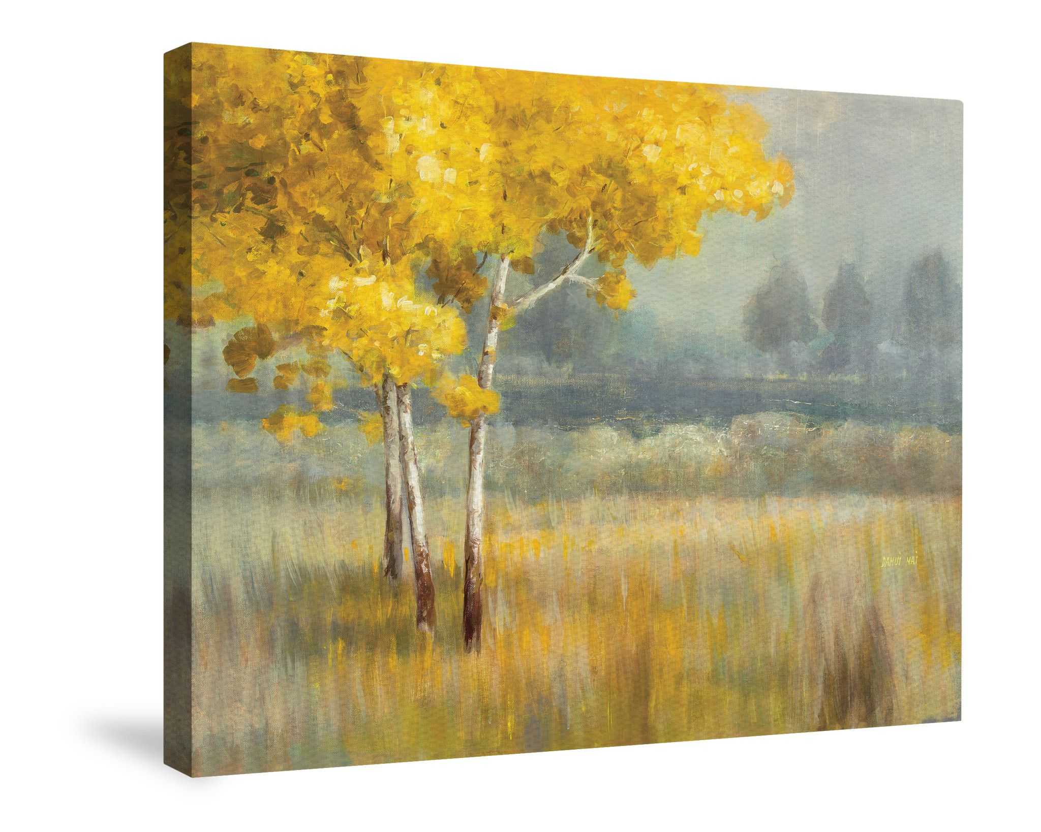 Yellow Landscape Canvas Wall Art | Primary color yellow. #1 ...