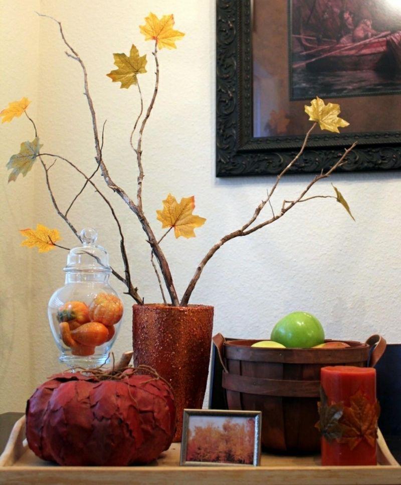 Herbstdeko selber basteln \u2013 40 erstaunliche Ideen