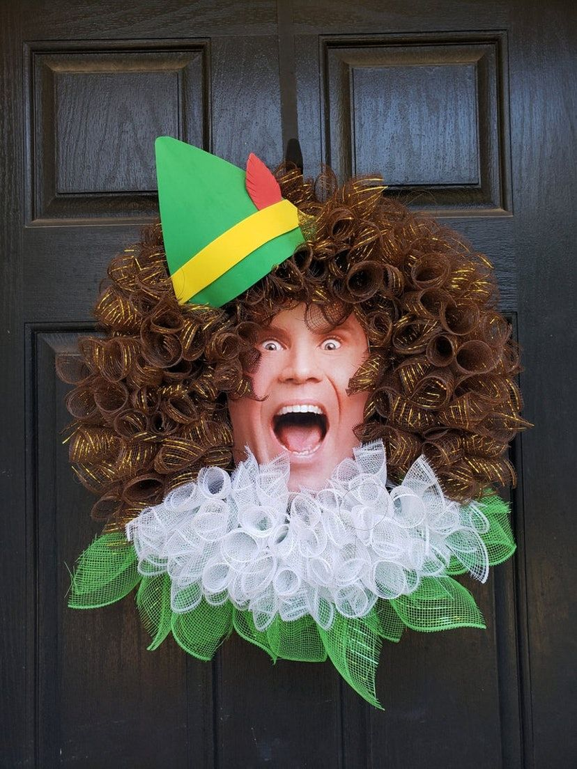 Photo of You Can Deck Out Your Door With A Buddy The Elf Wreath
