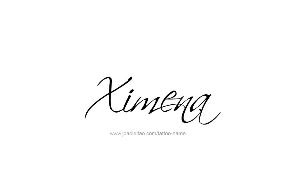 Ximena Name Tattoo Designs Letras Tatuajes De Nombres Nombres Y