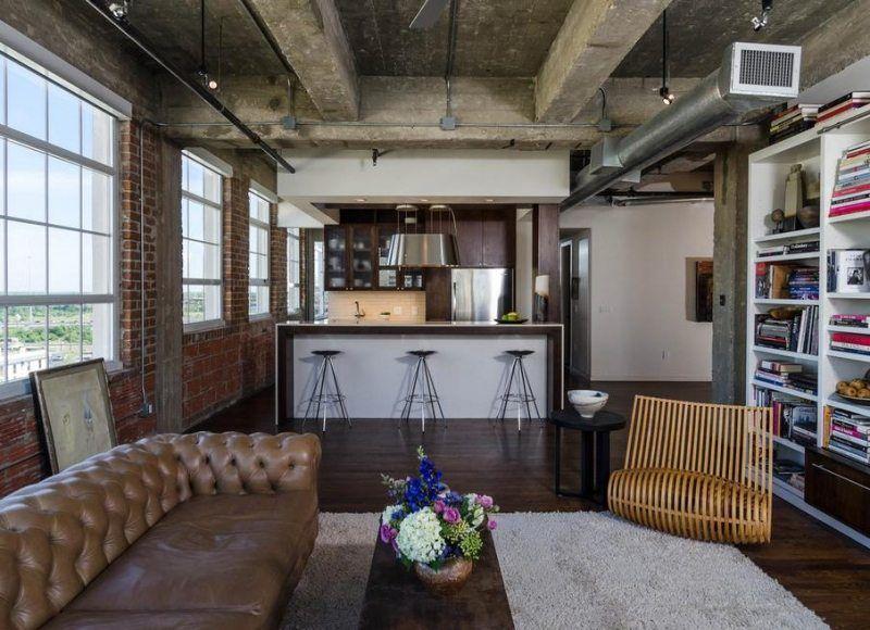 Küche in einer Loft-Wohnung gestalten Haus Rheinau Pinterest - einrichtung im industriellen wohnstil ideen loftartiges ambiente