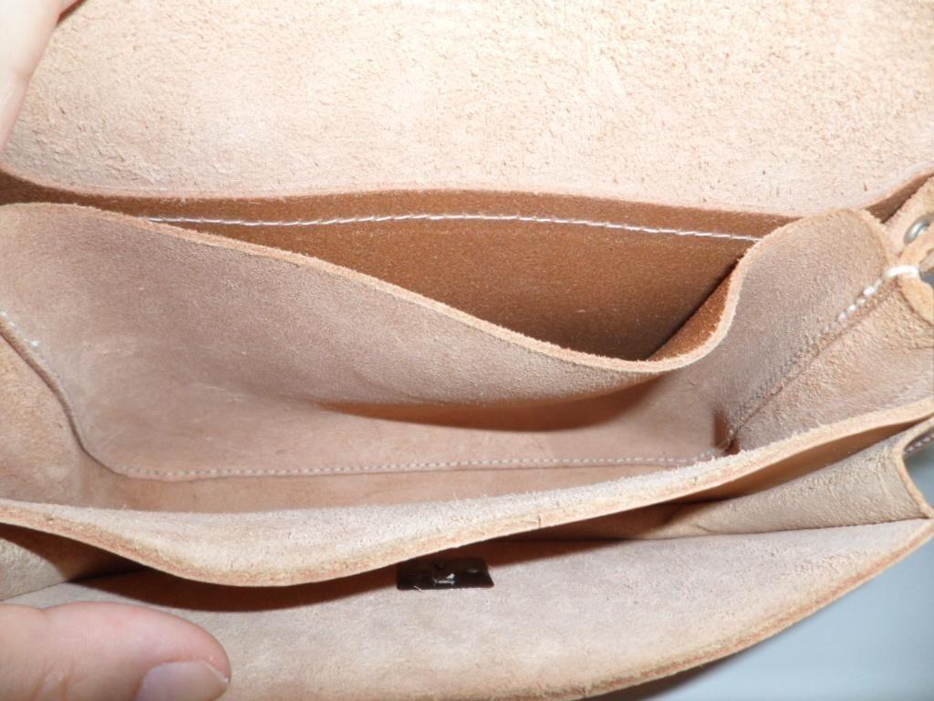 ÄKTA Läder Skinn Bag Skinnväska Sadelväska Natur VINTAGE på Tradera.com