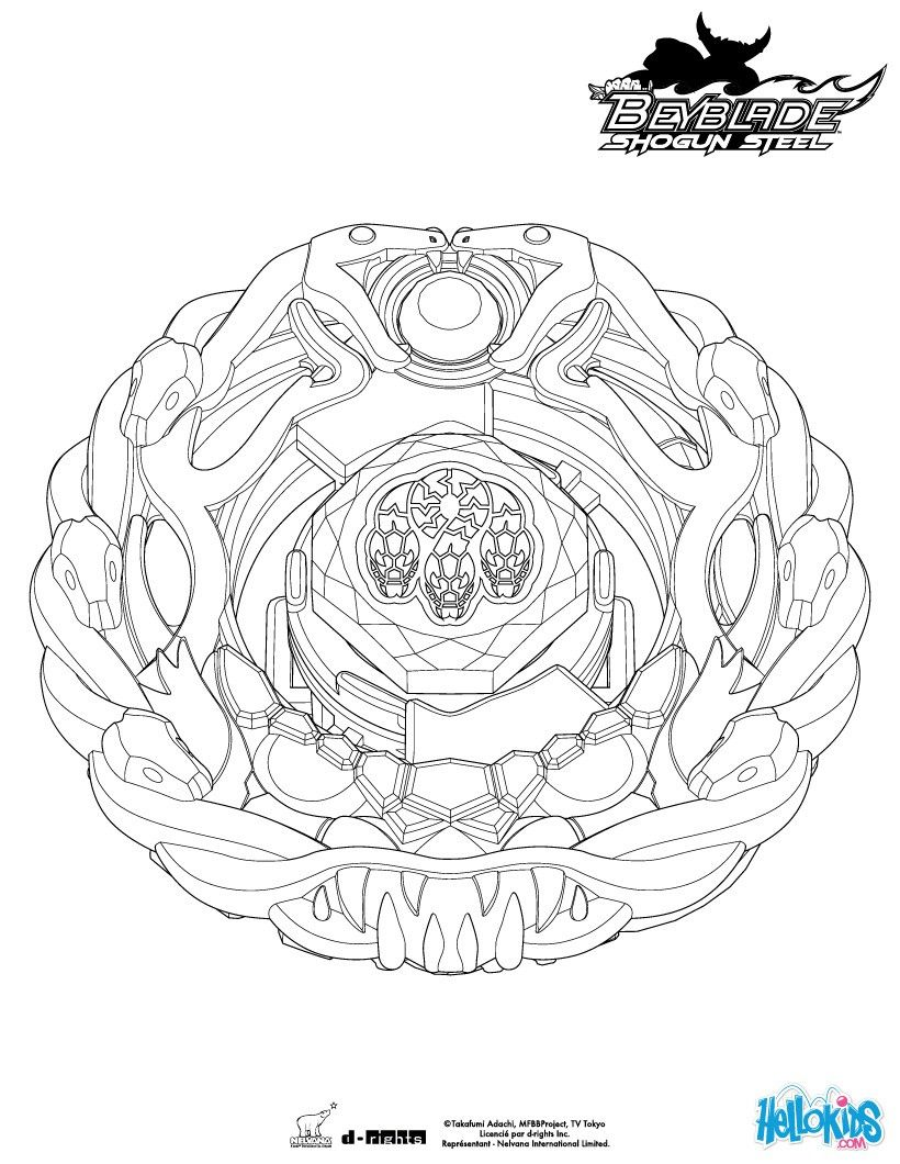 orochi coloring page. more beyblade coloring sheets on