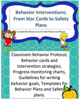 Back To School Behavior InterventionsPlans Safety Plans And Iep