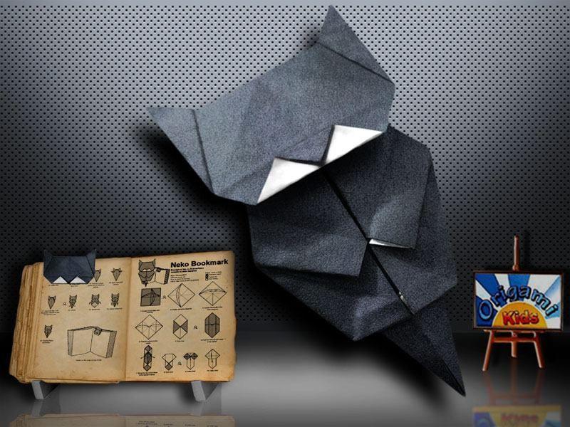 Origami Cat Bookmark by Jo Nakashima Designer Jo
